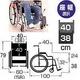 【消費税非課税】自走式低床 車椅子 AS-05 座幅38cm - 縮小画像2