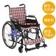 【消費税非課税】自走式 アルミ軽量 車椅子 AA-14 座幅38cm 紺チェック - 縮小画像1