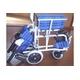 【消費税非課税】旅行用(介助式) アルミ車椅子 BA-t1 紺チエック - 縮小画像3