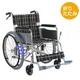 【消費税非課税】自走介助式 アルミ車椅子 ABA-13 座幅42cm 紫チエック - 縮小画像1