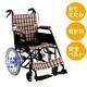 【消費税非課税】介助式 アルミ車椅子 BA-12 座幅38cm 紺チエック - 縮小画像1