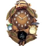 トトロ時計シリーズ マックロクロスケの振子時計