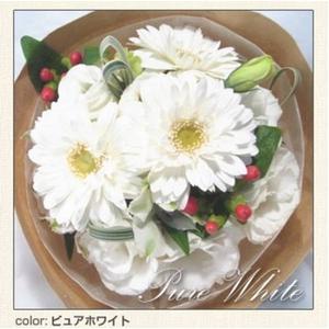 幸せいっぱいの贈り物 フェアリーブーケ ピュアホワイト とっておきのプレゼント♪心を込めた花束を・・・♪ - 拡大画像