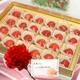 【遅れてごめんね、お母さん】メッセージカード付き さくらんぼ佐藤錦24粒と生花カーネーションのセット 写真1
