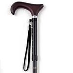 kind ware(カインドウェア) カラー伸縮 折りたたみステッキ ブラック L 【折りたたみ杖】