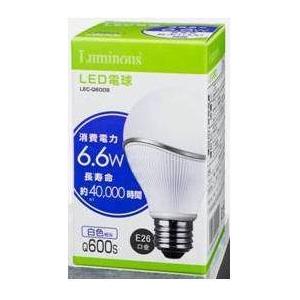 Luminous(ルミナス) LED電球 60W 白色 LEC-Q600S 【12個セット】 - 拡大画像
