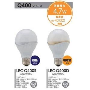 Luminous(ルミナス) LED電球 40W 白色 LEC-Q400S【12個セット】 - 拡大画像