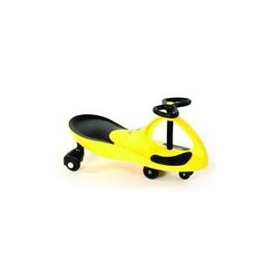 キッズ用おもちゃ【電池もペダルもない】プラズマカー(スイングカー) イエロー - 拡大画像