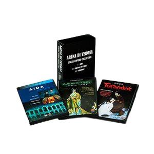 「恋するオペラ~アレーナ・ディ・ヴェローナ:イタリアン3大オペラ」DVDコレクションの詳細を見る