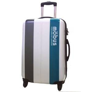 mobus(モーブス) ジッパーハードキャリー 4輪 ホワイト/グリーン 71992 スーツケースTSAロック付き