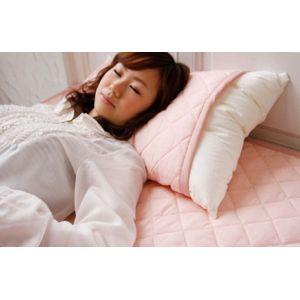 クールレイ(R) パッドシーツ + 枕パッド ダブル ピンク 綿100% 日本製