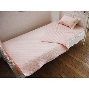 クールレイ(R) キルトケット ハーフ ピンク 綿100% 日本製