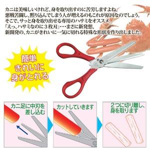 3枚刃ハサミ「カニざんまい」(蟹用ハサミ) ステンレス鋼刃 日本製