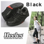 ウォーキングシューズ Heeles(ヒーレス) ウォーカー ブラック 22.0cm
