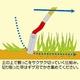 伸縮式草取り道具/けずっ太郎 【アルミ伸縮タイプ】 替刃付き アルミパイプ - 縮小画像2