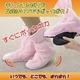 足元からぽかぽか! アマニ室内用保温ブーツ ピンク - 縮小画像1