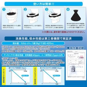 非常用トイレ「セルレット」 【凝固剤・汚物袋セット/お徳用50回分】 (防災/アウトドア/ドライブ/介護)