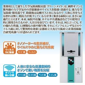超小型高性能 空気除菌脱臭器 「グリーンメイト...の紹介画像3