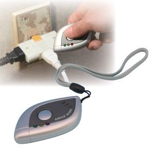 小型盗撮・盗聴発見器 電池式 切り替えスイッチ付き - 拡大画像