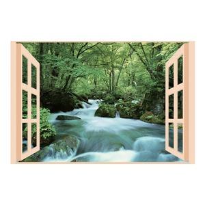 お風呂のポスター四季彩 奥入瀬の渓流 - 拡大画像