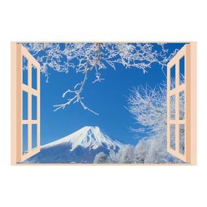 お風呂のポスター四季彩 雪富士 - 拡大画像