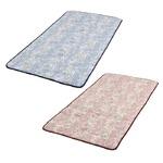 磁気マット「爽やか」 【花柄ピンク】 シングルサイズ 綿100% ゴムバンド付き 日本製