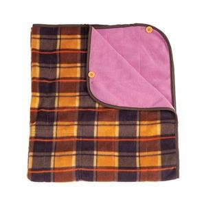 巻きスカート型ひざ掛け 【チェック柄】 リバーシブルタイプ (防寒用具)