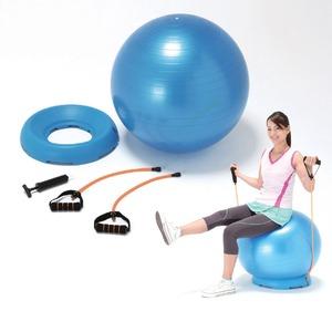 家でできる有酸素運動器具・グッズ『アクティブシェイプボール(台座・エキスパンダー付) 』
