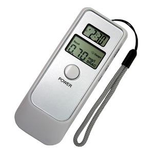 デジタルアルコールテスター(高精度飲酒検知器) 時計/目覚まし/温度計付き - 拡大画像