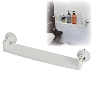 強力吸盤バス棚受け(吸盤式浴室用棚) 【ロングタイプ/棚幅56cm】 歯ブラシホルダー付き