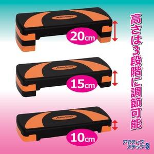 フィットネス器具/アクティブ ステップ3(スリー) 高さ3段階調節可