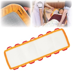 介護用移乗マット(布担架) 「リーフ」 持ち手付き 洗濯機/乾燥機可 - 拡大画像