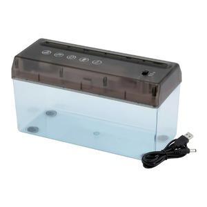 卓上電動シュレッダーUSBケーブル付き乾電池可A4サイズ対応