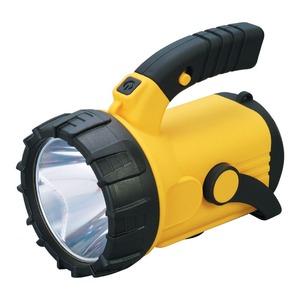 LEDサーチライト 【3W+1W】 ショルダーストラップ付き 単1乾電池式 点灯時間:約20〜40時間 - 拡大画像