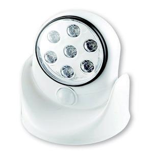 LEDマルチセンサーライト 赤外線検知方式 7灯/単3乾電池式 防雨形 (玄関/屋外)