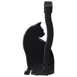 ドアストッパー【猫(ねこ)】 マグネットタイプ ブラック(黒) - 拡大画像
