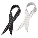 ネッククーラー/冷感スカーフ COOL BORDER 【2色組み】 日本製 〔熱射病対策 日焼け防止〕