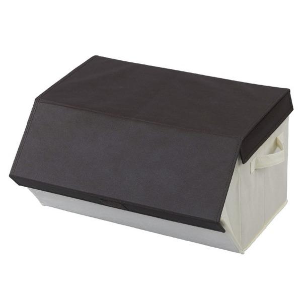 たためるスタッキングボックス/収納ボックス  フタ付き 不織布素材使用