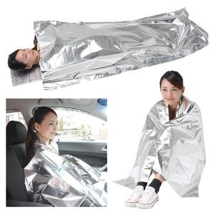 防寒シュラフ/寝袋 【専用枕付き】 アルミ蒸着...の紹介画像6