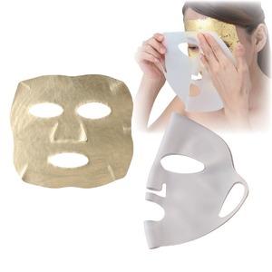 24Kエステゴールドフェイスセット(金箔マスク・フェイスパックセット) 24K純金箔使用 日本製 〔プレゼント サプライズグッズ〕 - 拡大画像