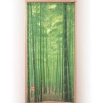 竹林のれん/暖簾 【ロングサイズ】 幅85cm×長さ170cm ポリエステル100% 洗える 日本製