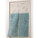 秩父ちぢみ のれん/暖簾 【トンボとメダカ】 幅85cm×長さ150cm 綿100% 洗える 日本製
