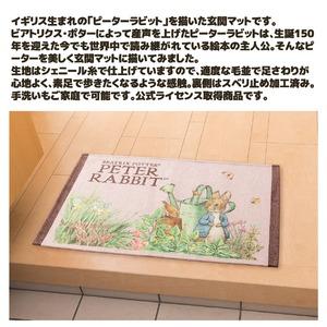 ピーターラビット シェニール玄関マット60×90cm ベージュ