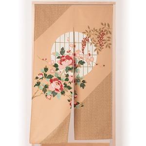伝統工芸士が作る 国産抜染のれん/暖簾 【大正ロマン】 幅85cm×長さ150cm 綿100% 洗える 日本製