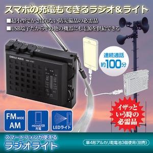 スマートフォンが使えるラジオライト