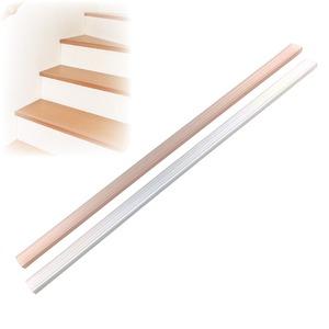 階段の滑り止め スリム 【15本組 クリアブラウン】 約3×70cm/1本 透明タイプ 簡単装着 日本製