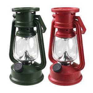 LEDクラシックランタン/LEDライト 【グリーン】 オイルランタン型 電源:単3形乾電池 〔アウトドア インテリア 非常時〕の画像1