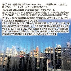 NEW 結露吸水レース/結露防止シート 【ボーダー柄】 90cm×90cm 貼り直し・カット可 速乾 日本製