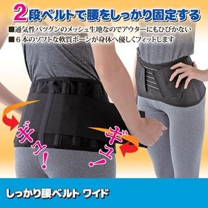 しっかり腰ベルト ワイド L/XL 78~108cm