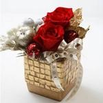 """メッセージ・プリザーブド★シャイニー・クリスマス★(レッド色)""""Happy Wedding"""""""